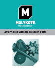 Molykote recubrimientos anti-fricción guía