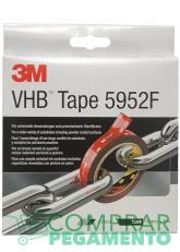 3M 5952 F VHB cinta adhesiva doble cara negra