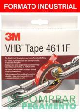 3M 4611 F VHB cinta adhesiva doble cara gris