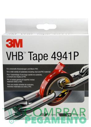 3M 4941 P VHB cinta adhesiva doble cara gris