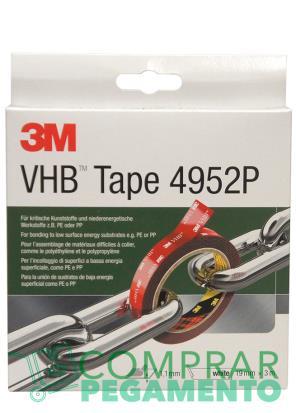 3M 4952 P VHB cinta adhesiva doble cara blanca