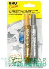 UHU Creativ Glitter Glue Oro-Plata