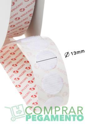 Redondas VELCOIN® Adhesivo marca VELCRO® 13 mm Blanco Macho