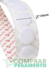 Redondas VELCOIN® Adhesivo marca VELCRO® 19 mm Blanco Hembra