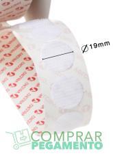 Redondas VELCOIN® Adhesivo marca VELCRO® 19 mm Blanco Macho