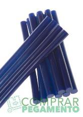 Cola termofusible hotmelt azul oscuro
