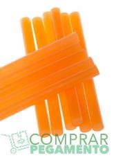 Cola termofusible hotmelt naranja flúor