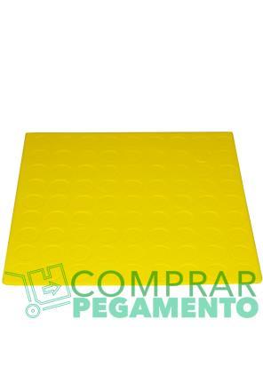 Discos adhesivos troquelados CD amarillo