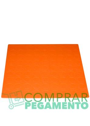 Discos adhesivos troquelados CD naranja