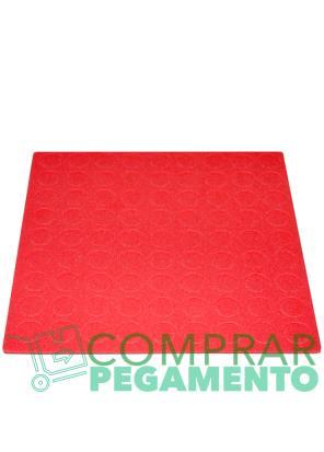 Discos adhesivos troquelados CD rojo