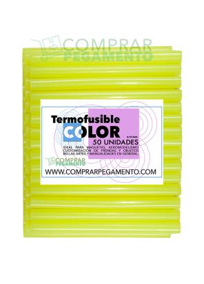 Hotmelt termofusible amarillo flúor